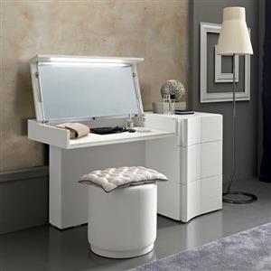 Modern Contemporary Designer Armonia Italian Dressing Table - Modern white dressing table