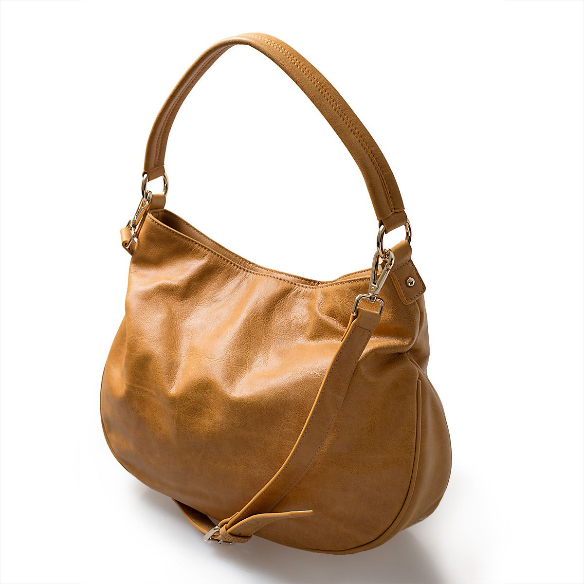 Mia Hobo - Dark Tan leather handbag - Marlie & Co.