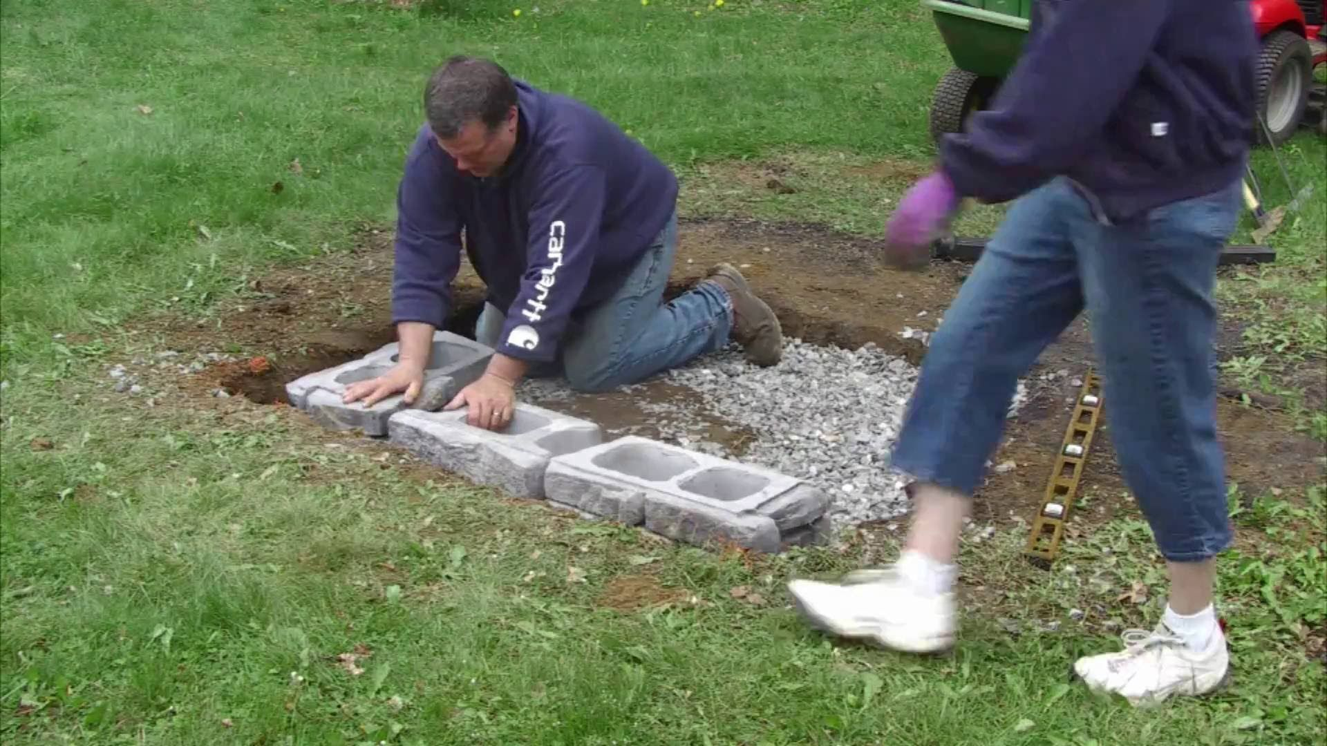 this is a video outlining the process for ground prep and assembling