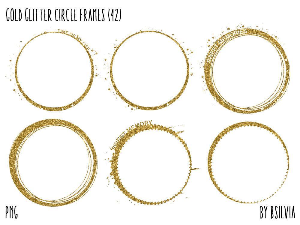 Gold Glitter Circle Frames Clipart Gold Glitter Design Etsy In 2021 Circle Frames Clipart Circle Frames Gold Circle Frames