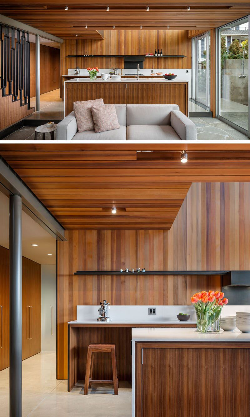 This House For A Bachelor Sits On The Waterfront In Seattle Outdoor Kitchen Cabinets Kitchen Cabinet Layout New Kitchen Cabinets