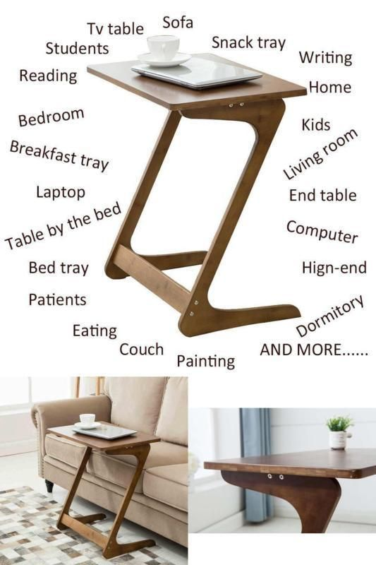 Sofa Table Laptop Tablet Tv Stand Coffee Removable Desk Writing Eating  Relax #NNEWVANTE#TV