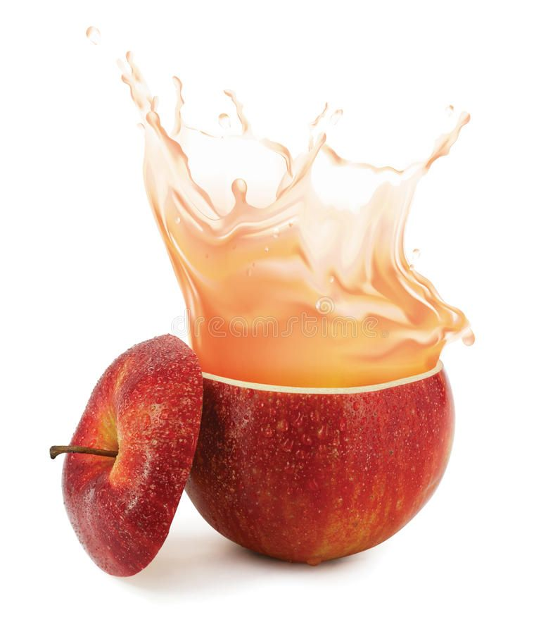 Apple Juice Splashing Isolated On White Ad Juice Apple Splashing White Isolated Ad Apple Juice Juice Packaging Food And Drink