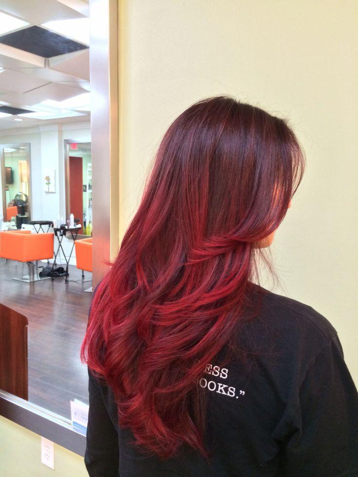 Sexy red balayage highlights dark weave hair the fur on my head sexy red balayage highlights dark weave hair pmusecretfo Images