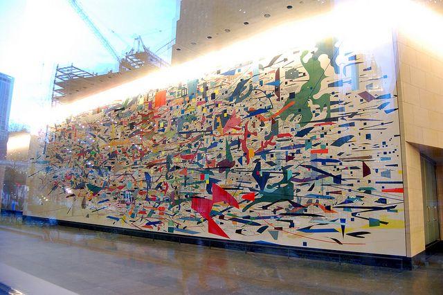 Julie Mehretu, Mural, 2010   Goldman Sachs   New York   Flickr
