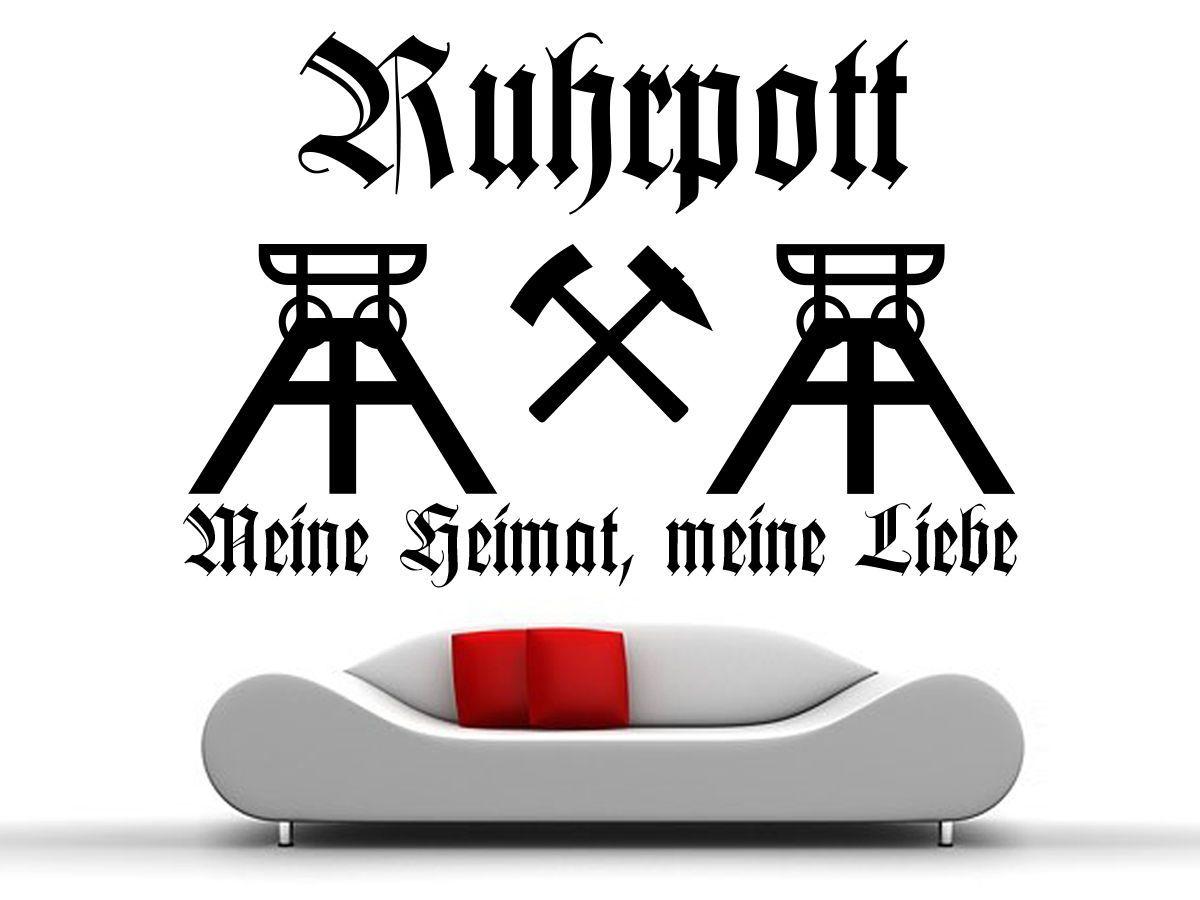 Marvelous Ruhrpott Wandtattoo Meine Heimat Meine Liebe Zeche F rderturm Schl gel Eisen eBay