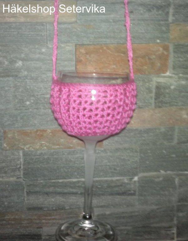 Weinglas Halterhalskettehäkelnwine Glass Holderparty