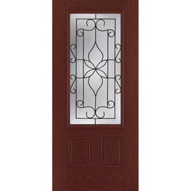lowes front entry doorsBenchmark by ThermaTru 36in Three Quarter Lite Decorative
