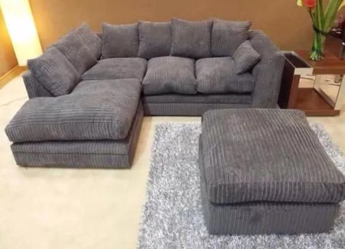 Amazing Details About New Dylan Corner Sofa In Grey Available In Pabps2019 Chair Design Images Pabps2019Com