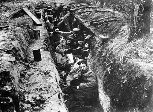 This is a picture of the German trench. They were set up in an ...