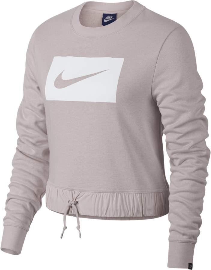 Nike Sportswear Swoosh Cropped Women S Crew Sportswear Women Long Sleeve Activewear Athletic Outfits