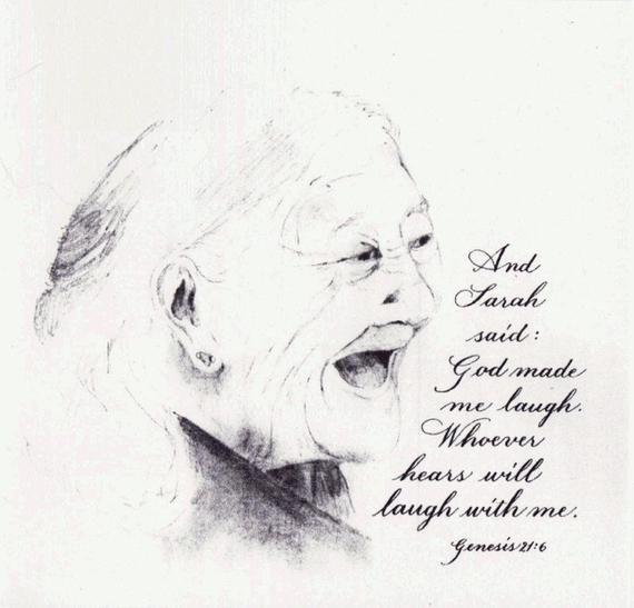 Rosh Hashanah cards - box of 12 - Sarah Laughed - Happy New Year