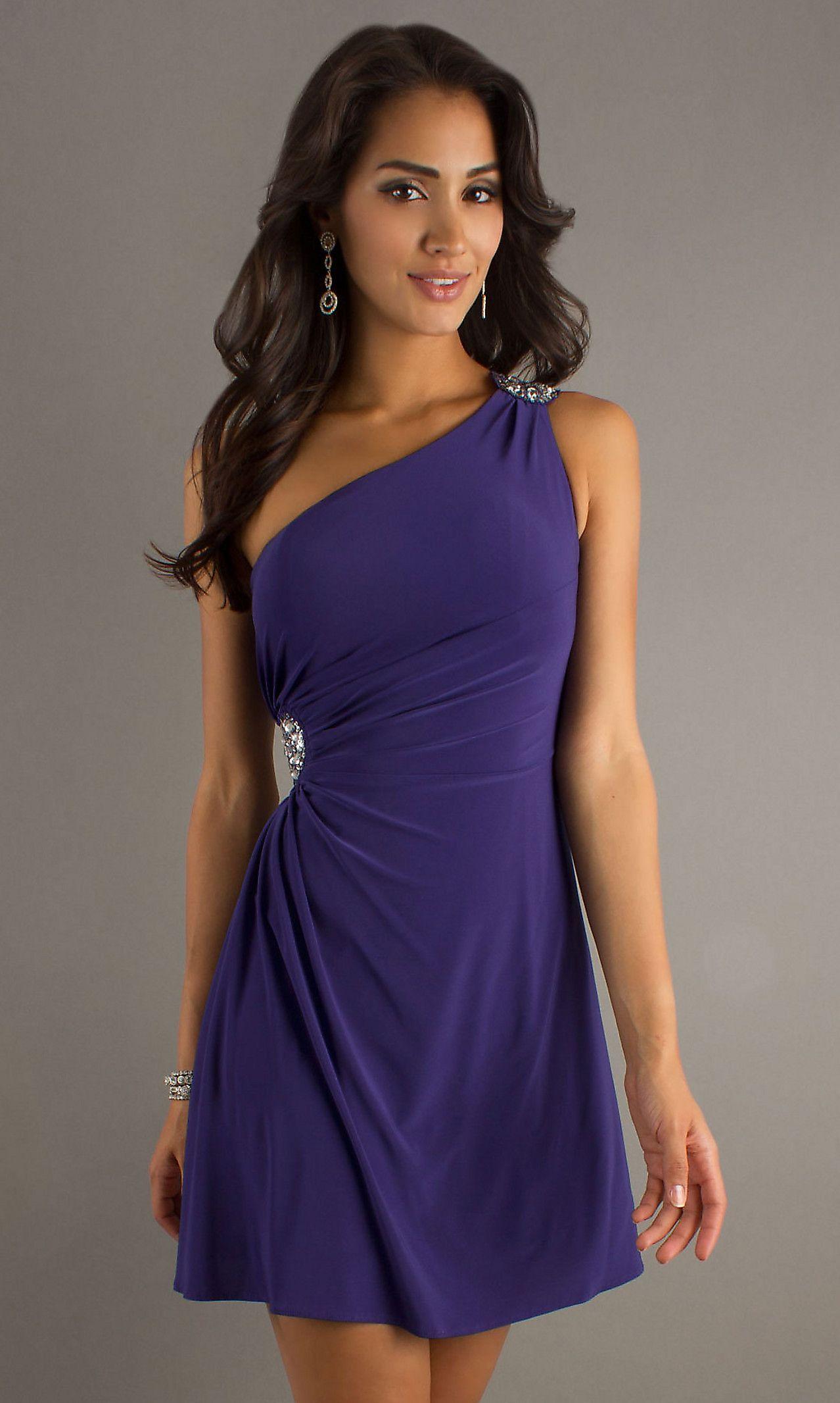 Short one shoulder dress hls cute dresses pinterest