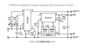 TP4056-1A Micro USB Li-ION Battery Charger Module with