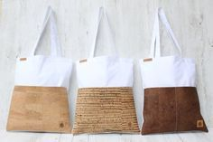 Shopper para dama de honor bolso shopper a rayas CORK regalo para su boda  – Bolsa