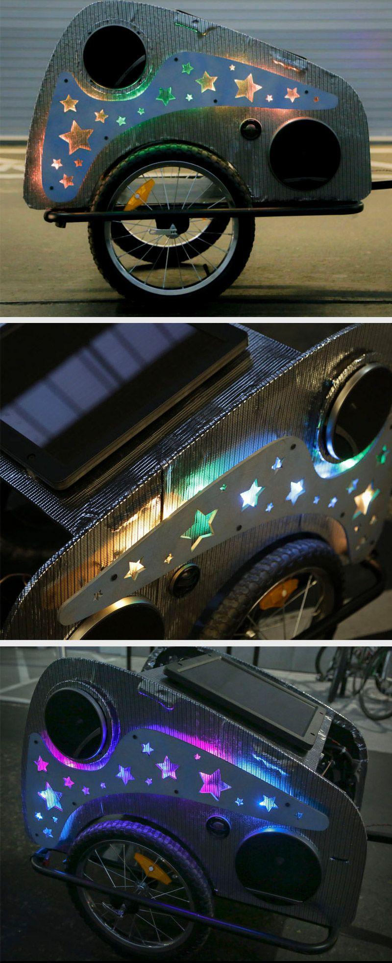 Solar Powered Disco Bike Trailer Power bike, Diy solar