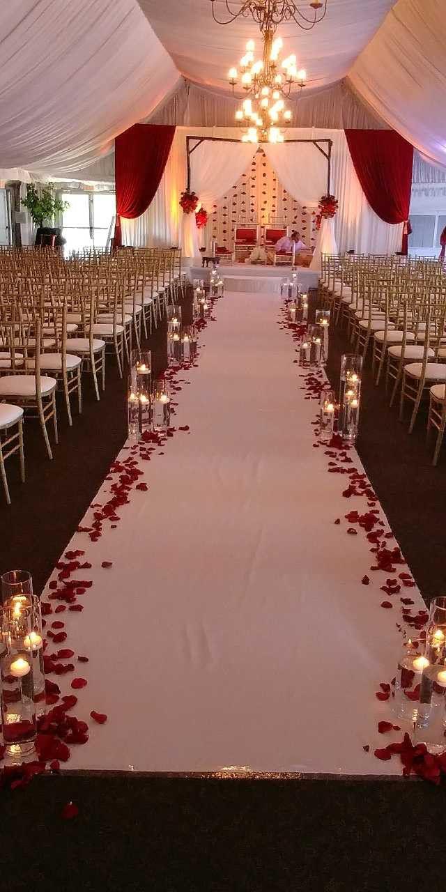 Wedding reception decoration images  Stunning wedding aisle decor gorgeous wedding ceremony decor in red