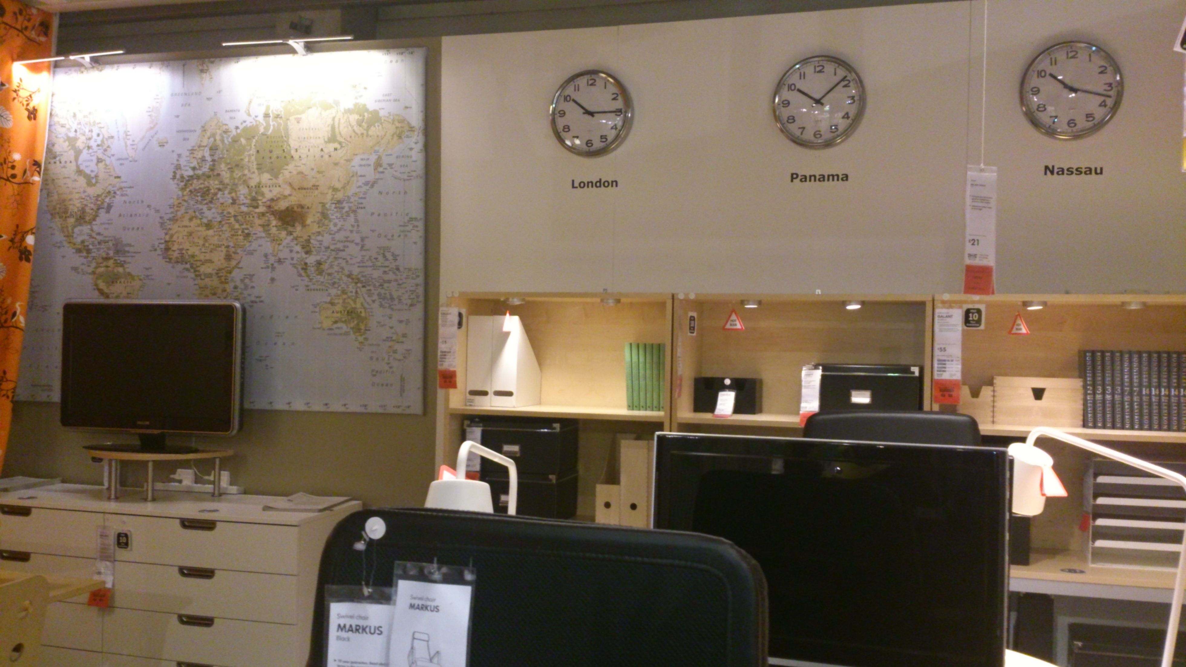 IKEA with Jujubean. <3 Our office, study? Large world map