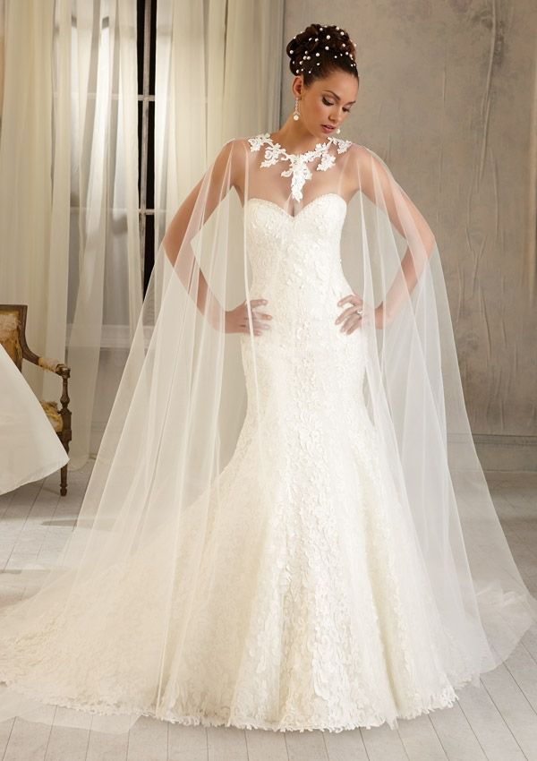 Wedding Bridal Gowns Accessories Cape with Laser Cut Satin Pattern ...