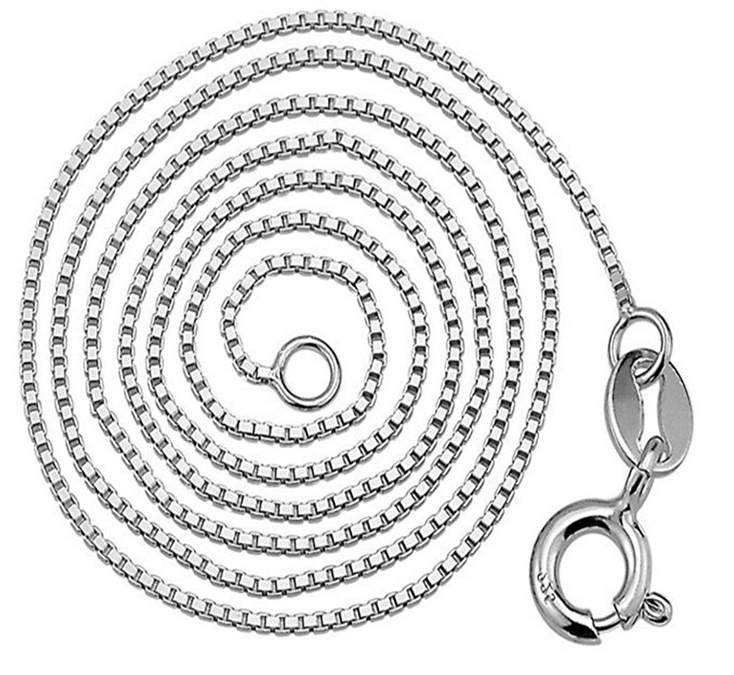 Penny Deals 1 Mm Box Chain Silver Made In Italy Tarnish Free And Hypoallergenic Availa Silver Necklace Sterling Silver Pendants Fashion Jewelry Necklaces