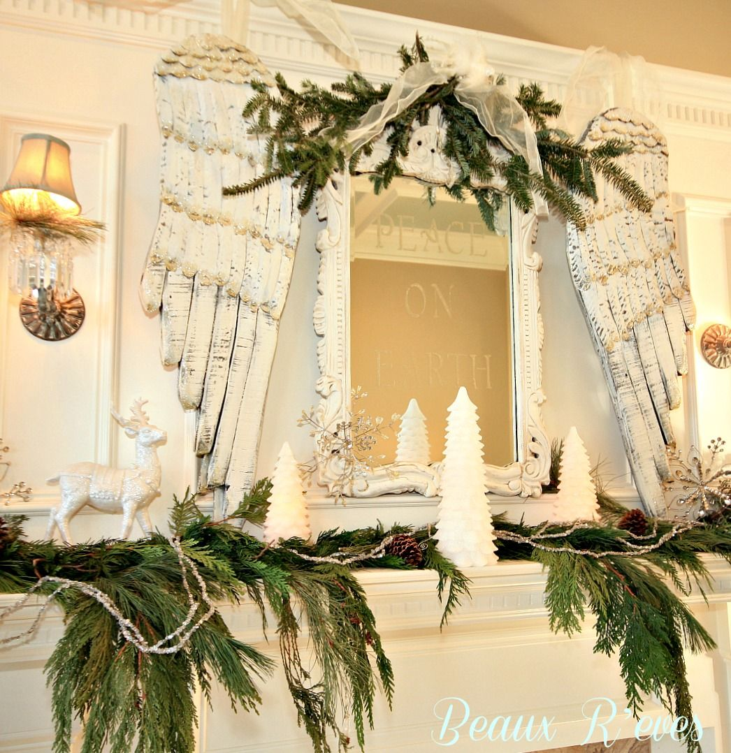 Beaux R\'eves: Christmas Decorating~Let\'s Start With The Mantel ...