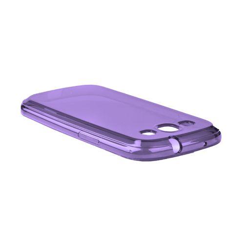 Tapa Samsung S3   Transparente, color Morado: Material flexible brinda resistencile.cla y absorción de golpes.   Síguenos: @gsm_chile - www.facebook.com/gsmchile.cl
