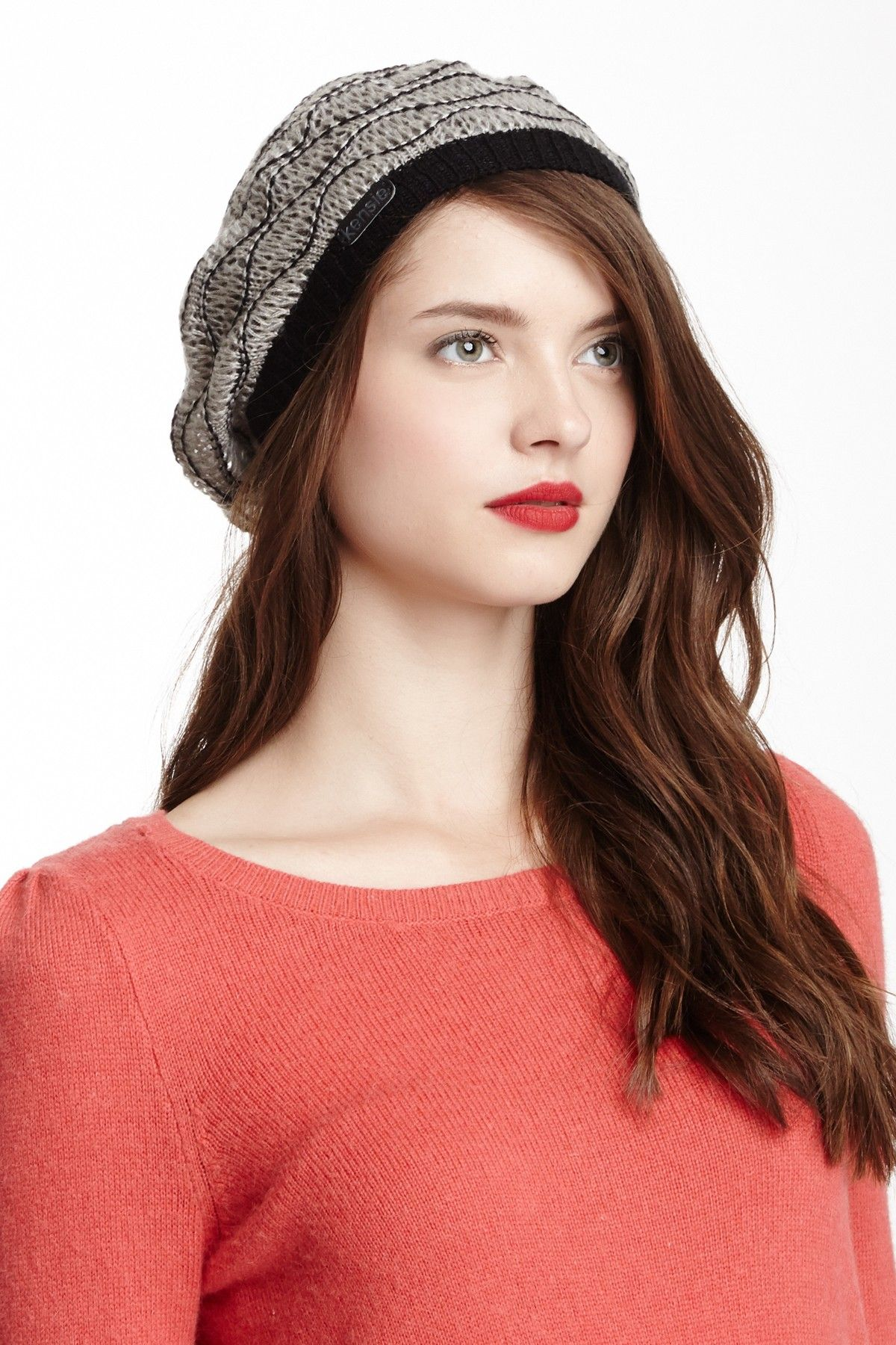 Kensie Wave Stitch Beret BeretWomen #Accessories | s | Pinterest ...