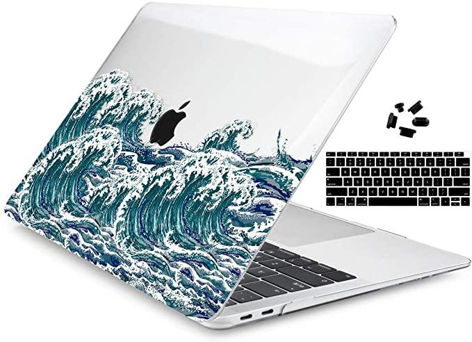 Amazon Com Dongke Newest Macbook Air 13 Inch Case 2020 2019 2018 Release Model A2179 A1932 Crysta In 2020 Macbook Air Case 13 Inch Macbook Case Stickers Macbook Air