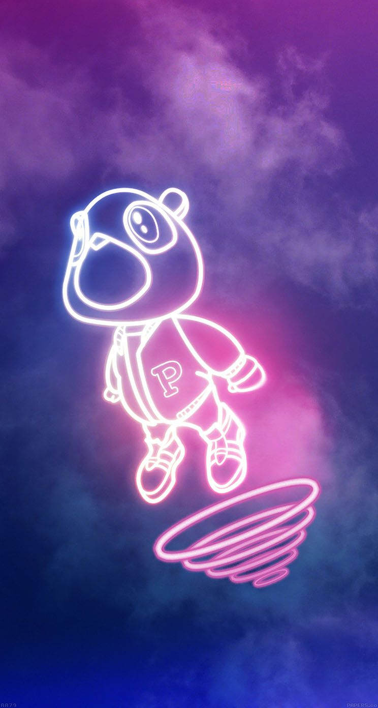 Kanye west iphone wallpaper tumblr - Iphone 5s Wallpaper Drop Out Bear Of Kanye Illustration From Papers Co