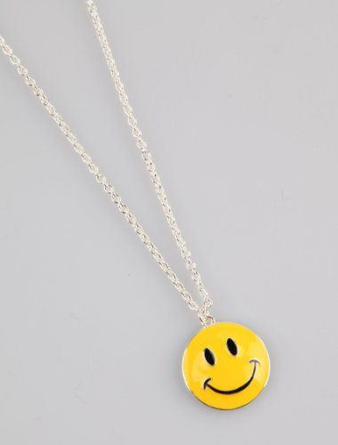 Smiley face pendant silver chain necklace zad jewelryhttpwww smiley face pendant silver chain necklace zad jewelryhttpamazon aloadofball Image collections