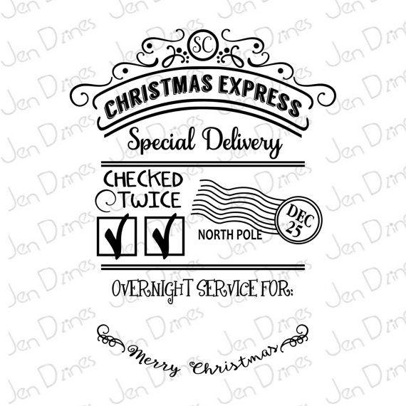 Santa sack SVG DXF EPS santa sack filesanta sacksanta by JenDzines