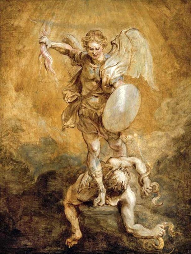 Rubens Saint Michael Subduing Lucifer 1625 1628 Modlitba