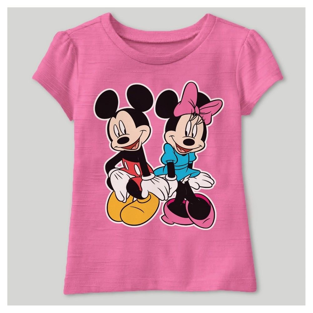 d41e895d4a9f Toddler Girls' Disney Minnie Mouse T- Shirt - Fuchsia 4T, Toddler Girl's,  Pink