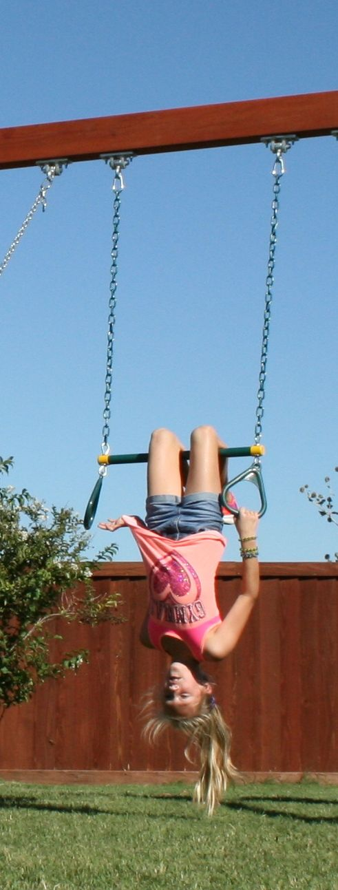 Your Child Can Swing On The Trapeze Bar Swing Under The Trapeze Bar