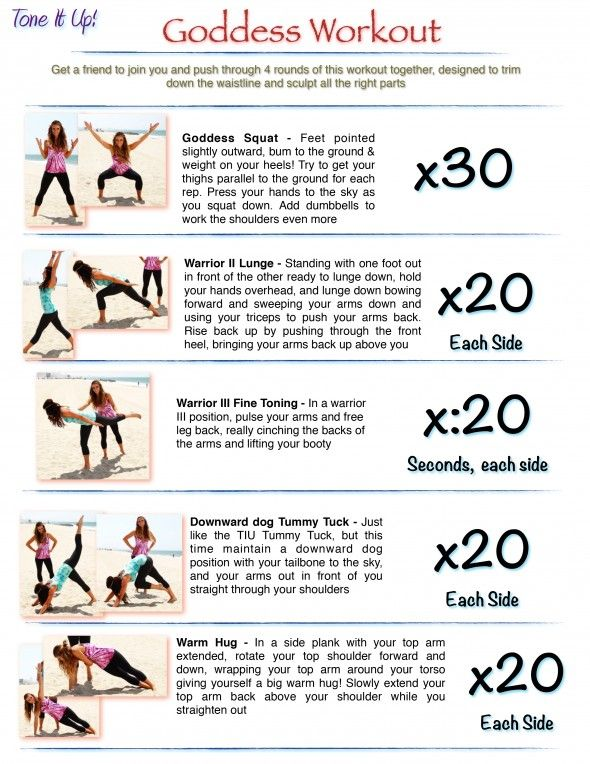 it s your toning routine your goddess workout