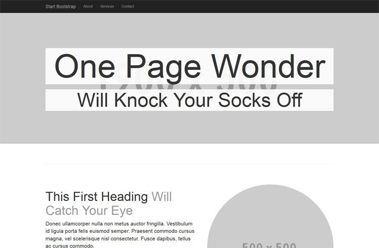 One Page Wonder http\/\/ironsummitmediagithubio\/startbootstrap - follow up email template