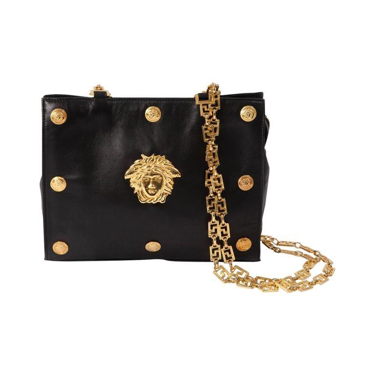 e373d6c34ddf Gianni Versace Couture Medusa Leather Shoulder Bag