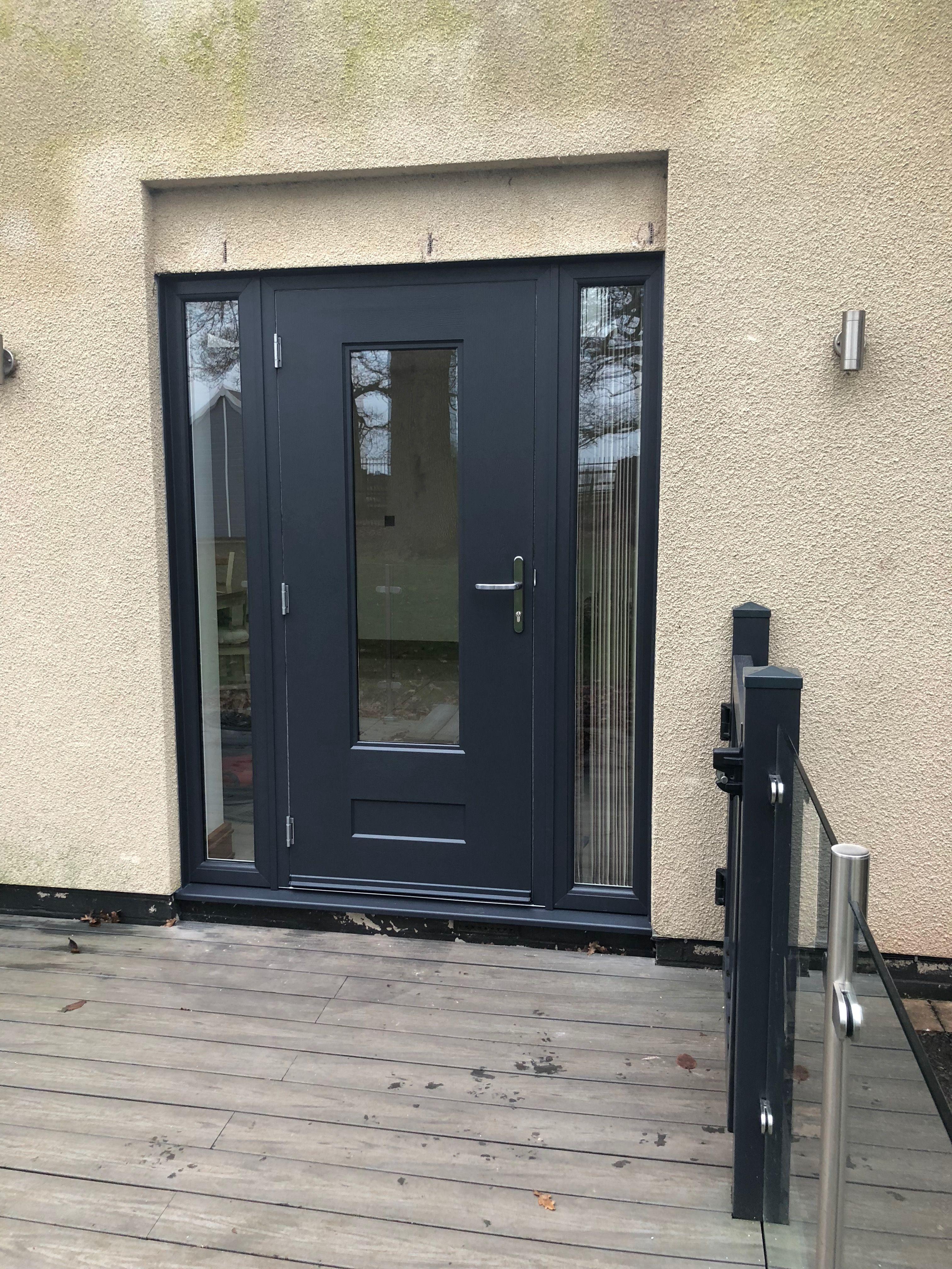 Black Jacobean Summit House Front Door Composite Door Modern Gate
