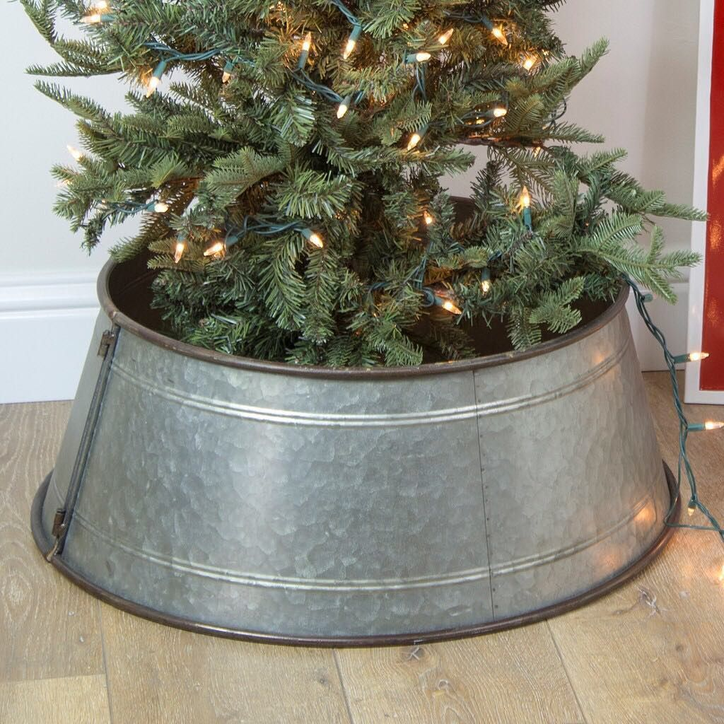 This HUGE galvanized tree collar will be the PERFECT