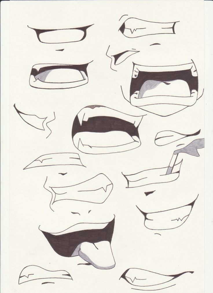 More mouth anime drawings tutorials drawings sketches