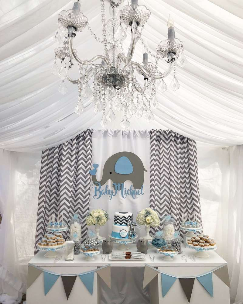 Baby Shower Boy Decoracion.Baby Elephant Baby Shower Party Ideas Photo 1 Of 9 Catch
