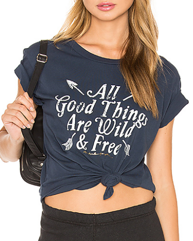 All good things are wild and free crop top