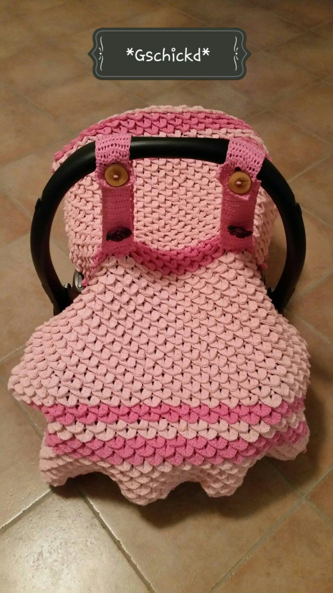 Babydecke passend zum MaxiCosi mit Crocodile Stitch Muster | baby ...
