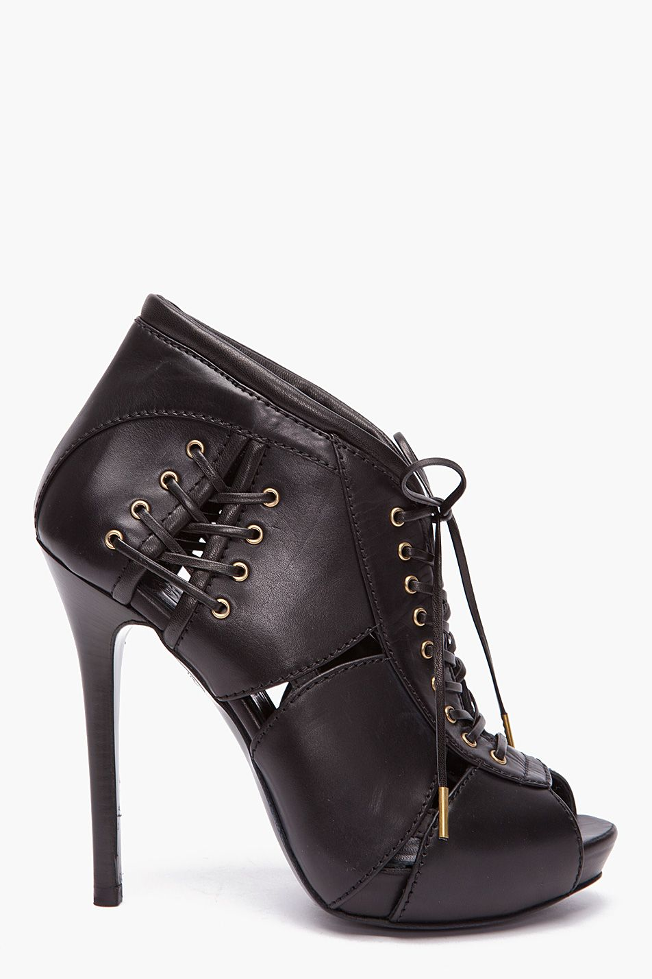 McQ Alexander McQueen Black 'For Walking' Ankle Boots W9c8B