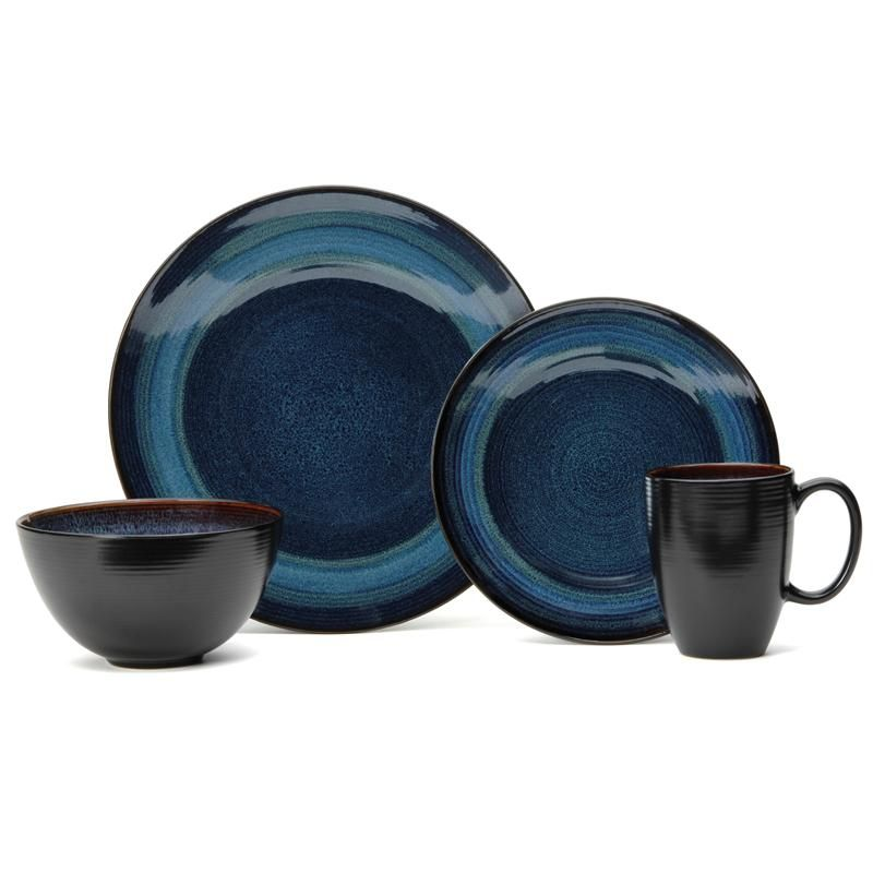 Oneida Adriatic Stoneware Dinnerware Round - Set of 16 (Blue) available for sale at the best price at Kitchen Stuff Plus your Dinnerware Sets store.  sc 1 st  Pinterest & Stoneware Dinnerware Sets | ADRIATIC D\u0027WARE S/16 RND BLUE | Dishes ...