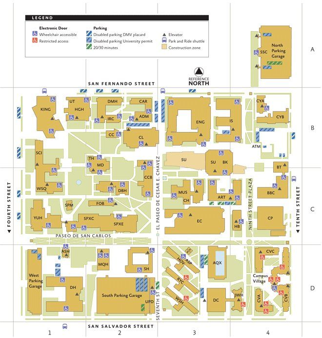 sjsu campus map pdf Are You New To Sjsu Here S A Map To Keep Handy You Ll Need It To sjsu campus map pdf