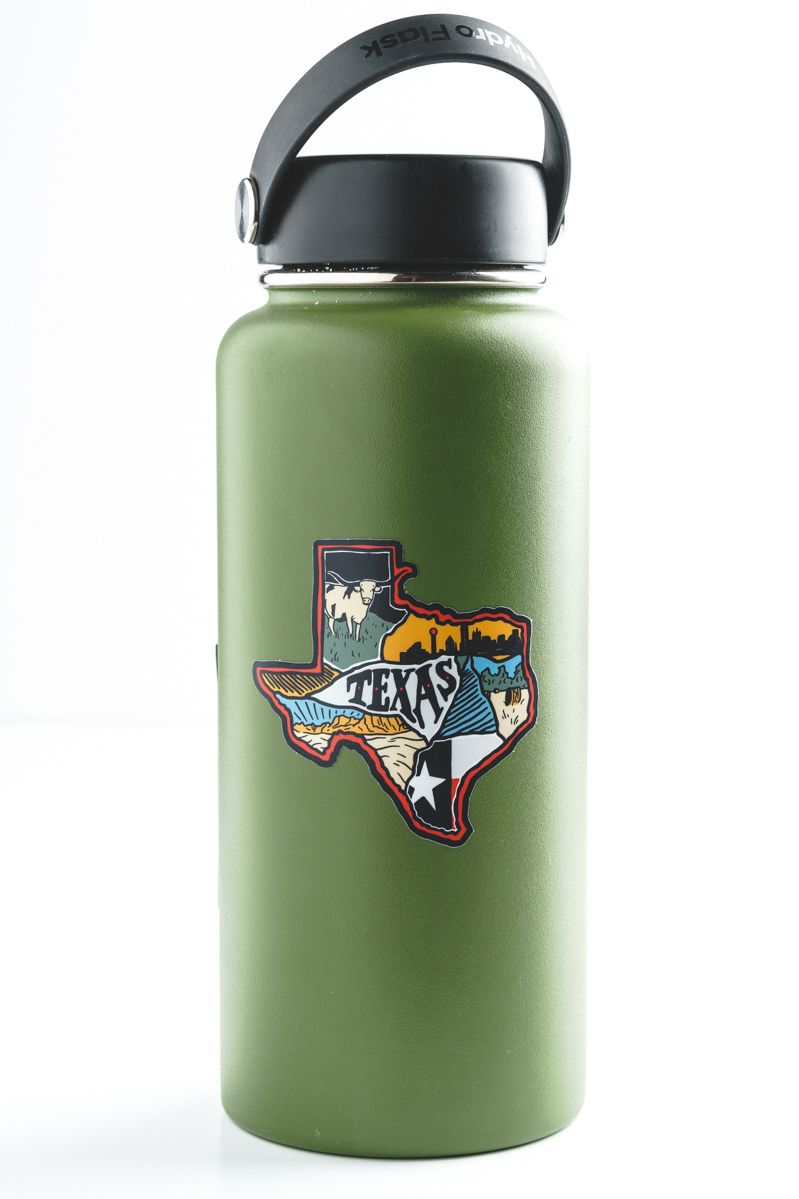 Show your state pride right on your hydro flask with this vinyl sticker keepnaturewildsticker vinyl sticker texas tx statepride statelove