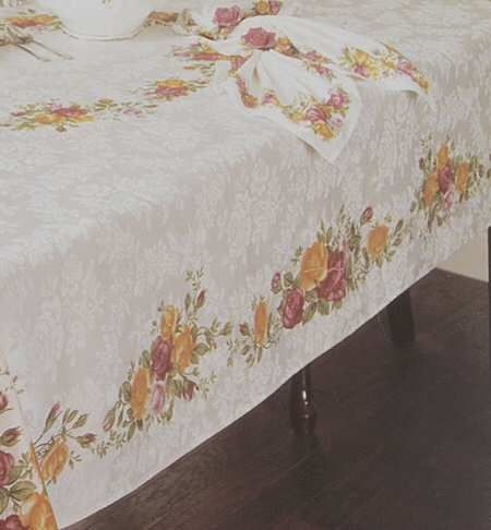 Royal Albert Old Country Roses 70 Round Tablecloth Country