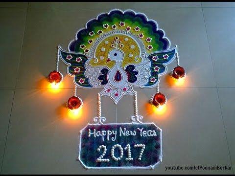 Happy New Year New Rangoli 28