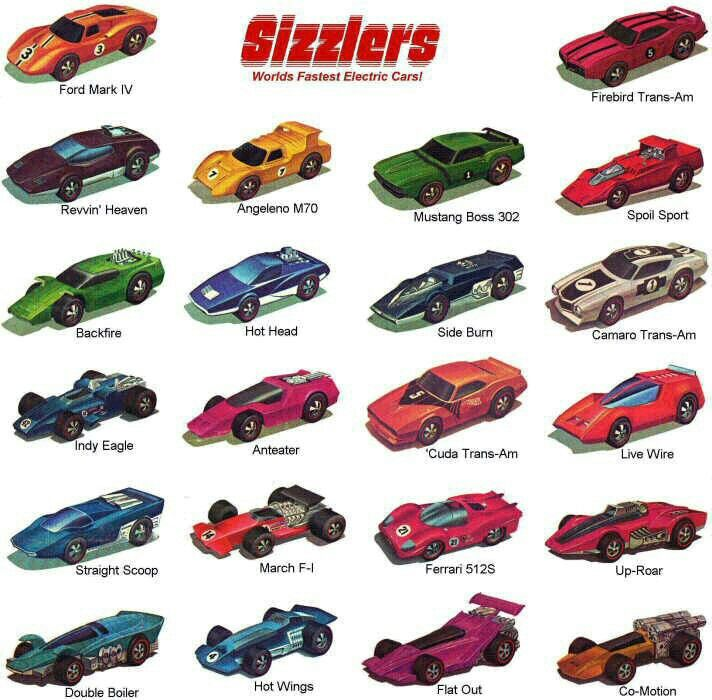 Hot Wheels Sizzlers Ad
